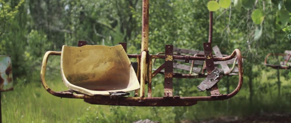 Chernobyl met drone gefilmd