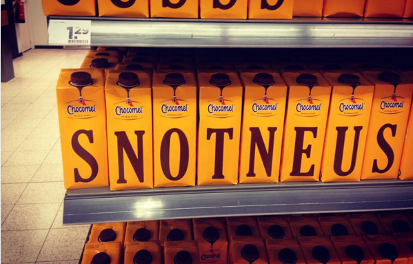 Chocomel letters