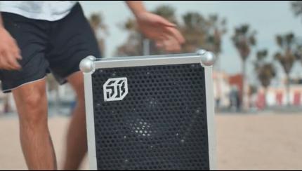 Soundboks kickstarter screenshot beach