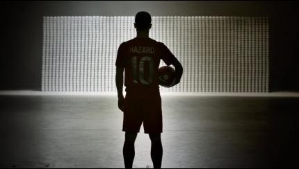 Schermafbeelding Eden Hazard Lotus Perfect Kick BeOn Campaign