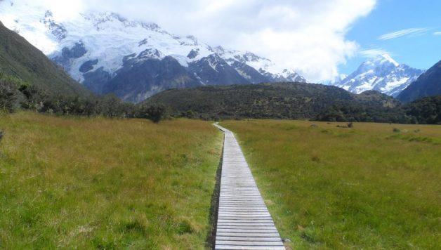Pad naar Mount Cook (Aoraki), Nieuw Zeeland